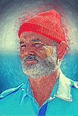 Ghostbusters Digital Art - Steve Zissou by Taylan Apukovska