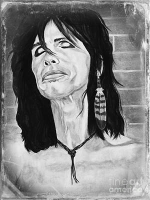 Painting - Steven Tyler Dreams On by Jeepee Aero