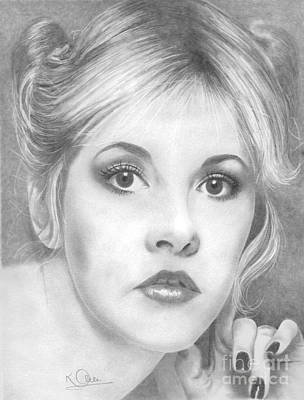 Stevie Nicks Drawing - Stevie Nicks by Karen  Townsend