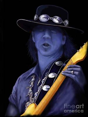 Stevie Ray Vaughan Print by Steve Knapp