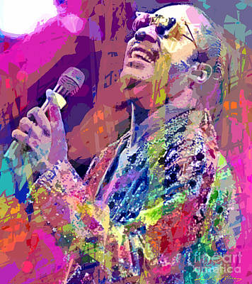 Stevie Wonder  Art Print by David Lloyd Glover