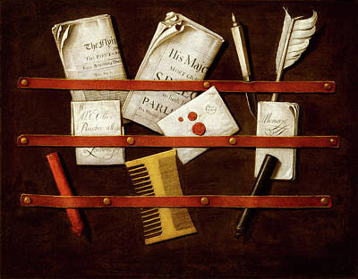 Painting - Still Life by Evert Collier