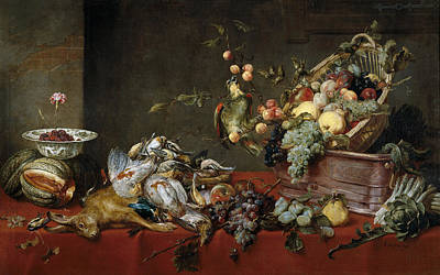 Pear Painting - Still Life by Frans Snyders