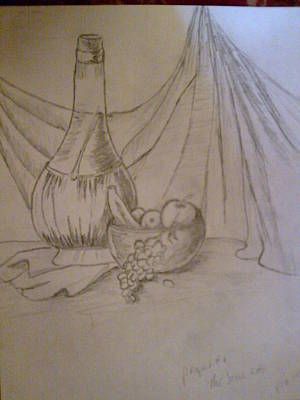 Drawing - Still Life by Helen Vanterpool