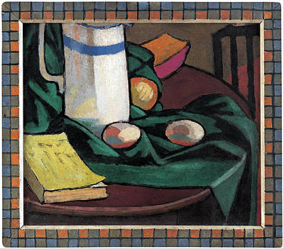 Painting - Still Life Jug And Eggs by Roger Fry