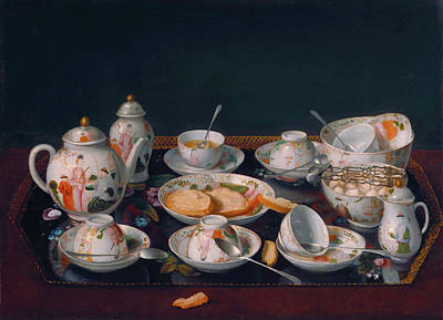 Tea Service Painting - Still Life - Tea Set by Mountain Dreams