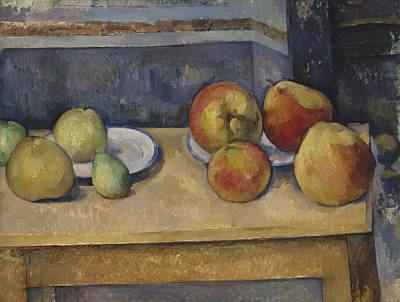 Painting - Still Life With Apples And Pears by Paul Cezanne