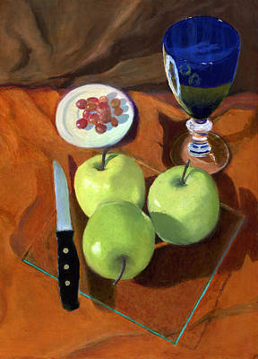 Still Life With Apples Art Print by Karyn Robinson