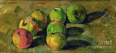 With Painting - Still Life With Apples by Paul Cezanne