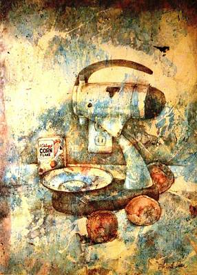 Mixed Media - still life with Blender by Ron Carson