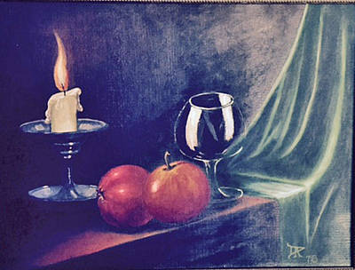 Painting - Still Life With Candle by Donald Paczynski