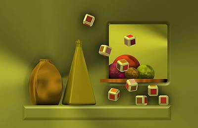 Still Life With Cubes Art Print by Alberto RuiZ