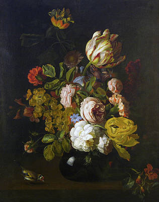 Painting - Still Life With Flowers by Tobias Stranover