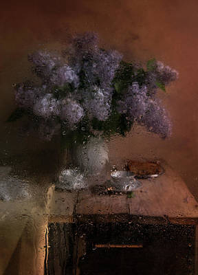 White China Cup Photograph - Still Life With Fresh Lilacs by Jaroslaw Blaminsky