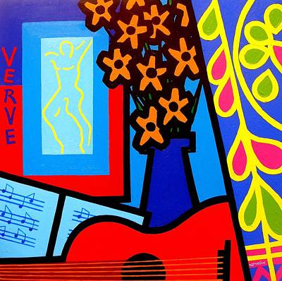 Christmas Greeting Painting - Still Life With Henri Matisse's Verve by John  Nolan