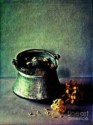 Digital Art - Still Life With Hydrangea by Binka Kirova