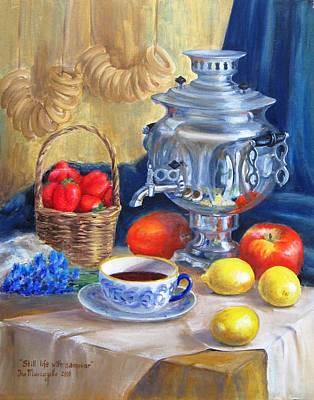Samovar Painting - Still Life With Samovar by Eleonora Mingazova