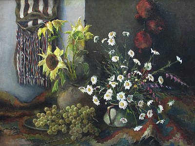 Sunflowers Painting - Still-life With Sunflowers by Tigran Ghulyan