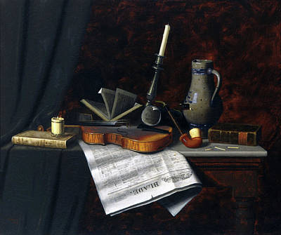 Painting - Still Life With The Toledo Blade by William Harnett