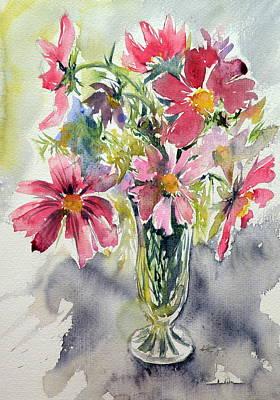 Still Life With Windflowers Art Print