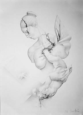 Stillness Drawing - Stillness-child Was Born by Mirko Sevic