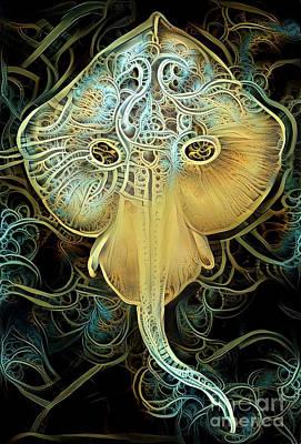 Stingray Art Print by Amy Cicconi