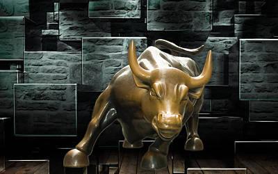Mixed Media - Stock Trader by Marvin Blaine
