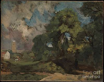 Hampstead Painting - Stoke-by-nayland by Celestial Images