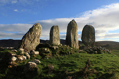 Photograph - Stone Alignment At Waterville  by Aidan Moran