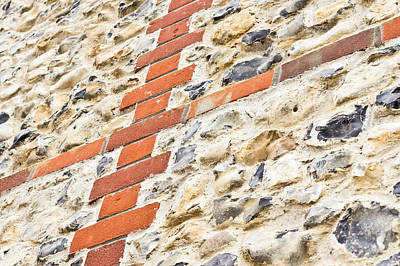 Stone And Brick Wall Art Print by Tom Gowanlock