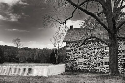 Photograph - Stone Farmhouse by Mick Burkey