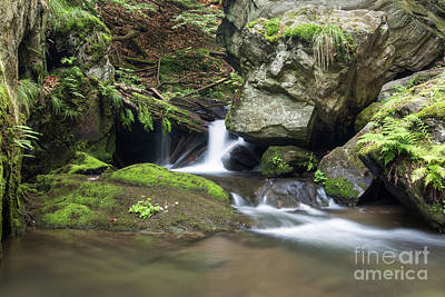 Photograph - Stone Guardian Of The Waterfalls - Bizarre Boulder On The Bank by Michal Boubin