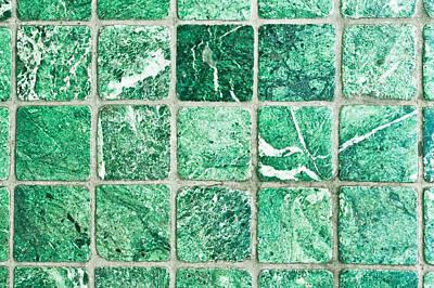 Stone Tiles Art Print by Tom Gowanlock