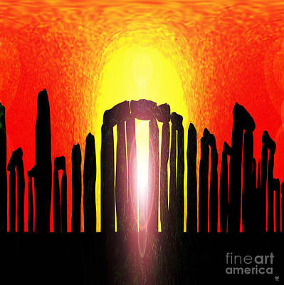 Midsummer Eve Painting - Stonehenge Solstice by Neil Finnemore
