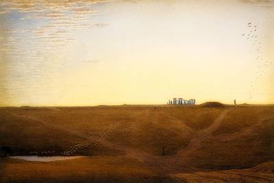 Painting - Stonehenge - Twilight by William Turner Of Oxford