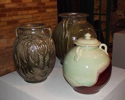 Ceramic Art - Stoneware Jars by Stephen Hawks