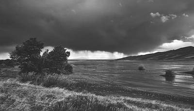 Photograph - Storm Brewing Over The Mud Flats by Library Of Congress