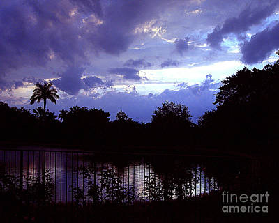 Art Print featuring the photograph Storm Clouds Gather by Merton Allen