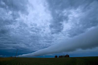 Telephone Poles Digital Art - Storm Clouds Near Gravelbourg Saskatchewan by Mark Duffy