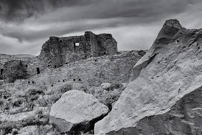 Photograph - Storm Clouds Over Chaco Ruins by Alan Vance Ley