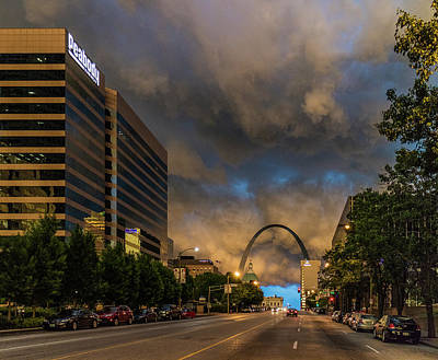Photograph - Storm  Clouds Over St Louis by Garry McMichael