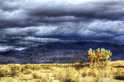 Photograph - Storm Clouds Over The Mohave Desert 02 by Roger Passman