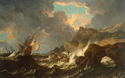Painting - Storm In The Sea by Pietro Tempesta