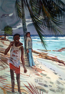 Carribean Painting - Storm Jitters by Donald Maier