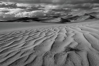 Storm Over Sand Dunes Art Print