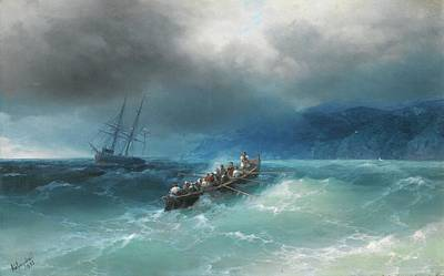 Storm Clouds Painting - Storm Over The Black Sea by Ivan Konstantinovich