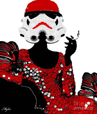 Painting - Stormtrooper Diva by Saundra Myles