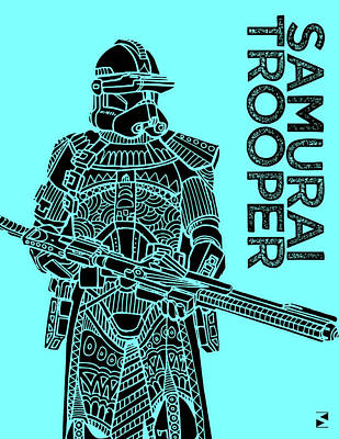 Royalty-Free and Rights-Managed Images - Stormtrooper - Star Wars Art - Blue by Studio Grafiikka