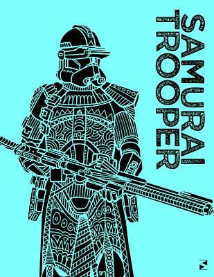 Soldier Mixed Media - Stormtrooper - Star Wars Art - Blue by Studio Grafiikka