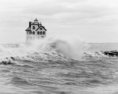 Photograph - Stormy Lorain Ohio Harbor by Jack R Perry